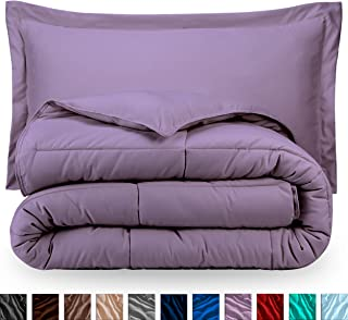 Bare Home Comforter Set - Twin/Twin Extra Long - Goose Down Alternative - Ultra-Soft - Premium 1800 Series - Hypoallergenic - All Season Breathable Warmth (Twin/Twin XL, Lavender)