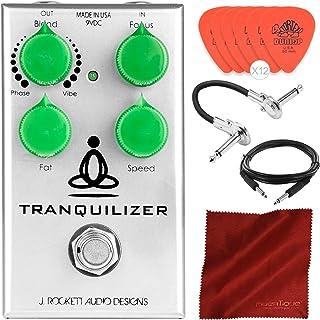 J. Rockett 音频设计宁静振动器和阶段踏板,搭配吉他插牌、电缆和超细纤维布