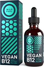 Vegan B12 Liquid Drops by Wild Fuel - Supports Production of Cells, Energy and Mood - High-Potency One-Dropper Per Day Sub...