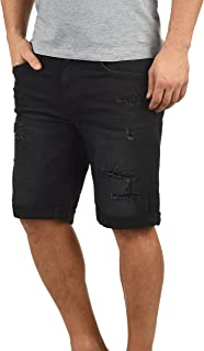 Blend Deniz Herren Jeans Shorts Kurze Denim Hose Mit Destroyed-Optik Aus Stretch-Material Regular Fit