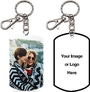 Pearl Pix Custom Key Chain, Personalized Photo Key Chain, Double Side, 1.8