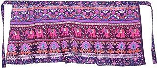 Women's Cotton Printed Knee Length Regular Wrap Around Skirt (W24NT_0006)
