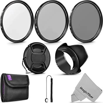 52mm Essential Accessory Kit for Nikon DSLR Bundle with Vivitar Wide Angle and Telephoto Lens