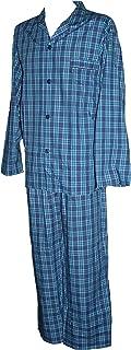 Espionage Blue Traditional Check Long Pyjamas