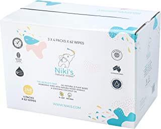 Niki's Natural Baby Wipes - 1,488 Wipes (Pack of 24 x 62 Wipes)