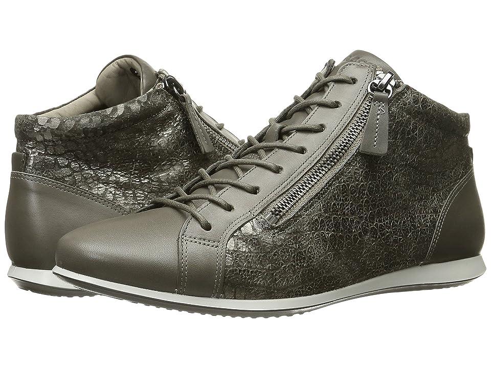 ECCO Touch Sneaker High Top (Warm Grey/Warm Grey) Women