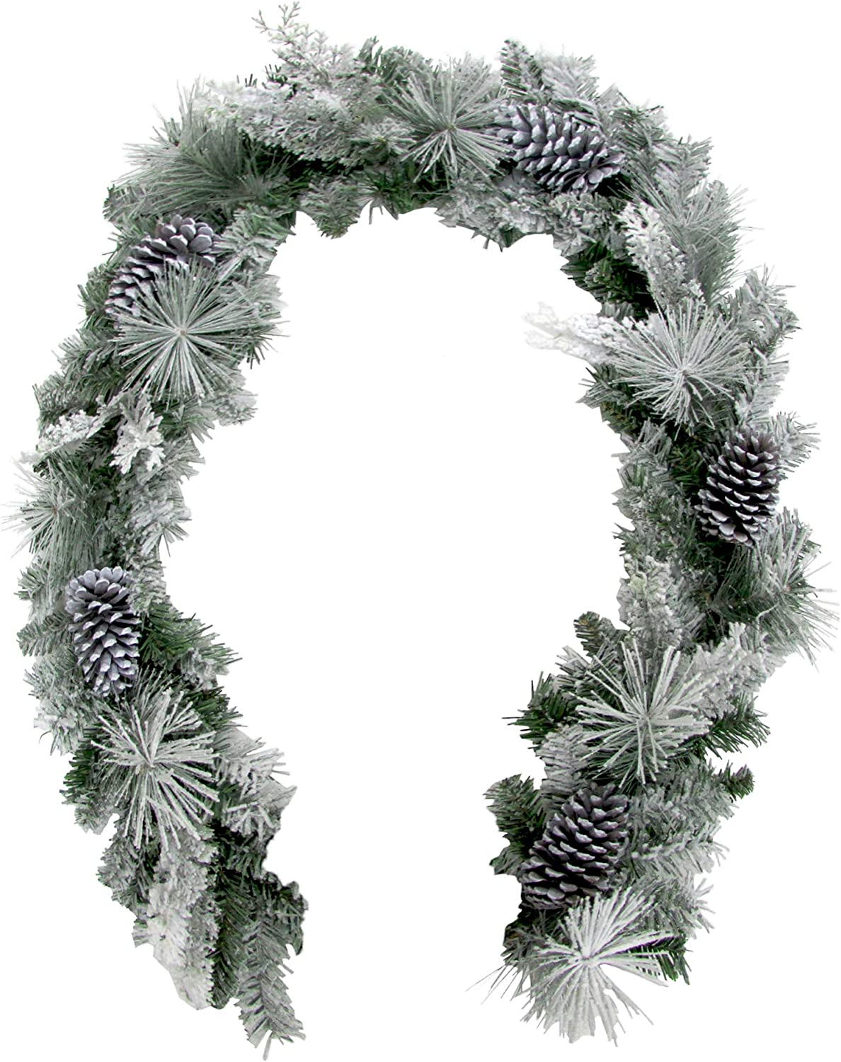 Shipping included Fraser Hill Farm 6-Ft. Christmas Fort Worth Mall Flocked Snow Pinec with Garland