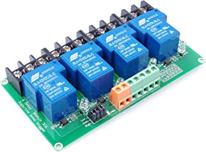 KNACRO 4-Channel DC 12V Relay Module High Low Level Triggering Optocoupler Isolation Load 30A DC 30V AC 250V for PLC Automation Control, Industrial System Control, Arduino (DC 12V)