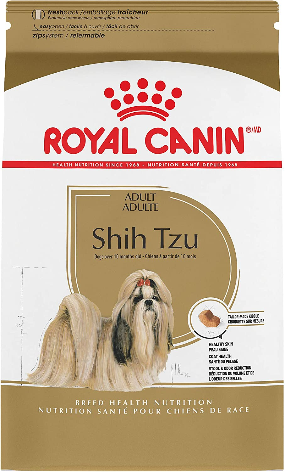 Royal Canin Breed Health Nutrition Shih Tzu Adult Dry Dog Food, 2.5Pound