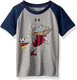Under Armour Baby Boys Logo Raglan Tee Shirt, True Grey Heath, 24M