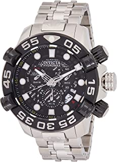 Invicta Men's Black Dial Stainless Steel Band Watch - IN-23767