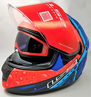 LS2 Helmets - FF320 Stream Evo - Bubble - Matt Black Orange - Dual Visor Full Face Helmet - (Large - 580 MM)