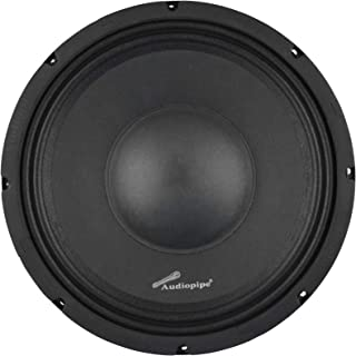 Audiopipe APSP-1050 10 Inch 700 Watt MAX, 350 Watts RMS, and 8 Ohm Dynamic Mid Range Car Audio Loudspeaker with 2.5 Inch K... photo