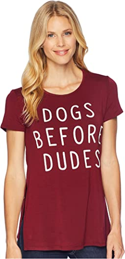 American Rose Dogs Before Dudes Tee