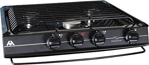 Atwood 52939 Wedgewood CV-35 BP Slide-in Cooktop, Open Burner - Black, Piezo Ignition