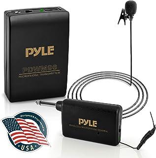 Wireless Clip Lavalier Microphone System – Portable Professional Clip Lav lapel Mic..