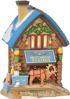 Department 56 North Pole Village Series Santa's Hitching Station Lit Building 6.75