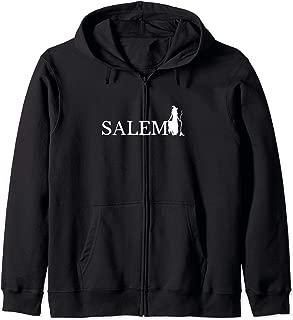 Cute Halloween Salem Witch Zip Hoodie