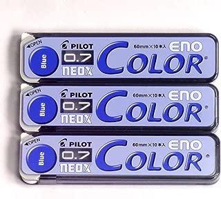 Pilot Color Mechanical Pencil Lead Eno, 0.7mm, Blue, 10 Lead ×3 Pack/total 30 Leads (Japan Import) [Komainu-Dou Original Package]