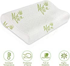 Proliva Memory foam pillow | Cover with Aloe Vera | Hypoallergenic Soft Density Memory foam and Dust Mite Resistant & Anti Snore neck & Body Support, Anti Allergenic Organic Natural Memory Foam Pillow