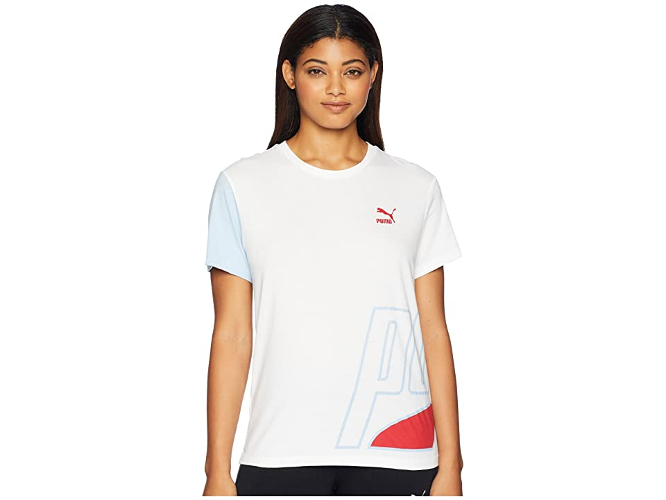 PUMA Loud Tee (White) Women