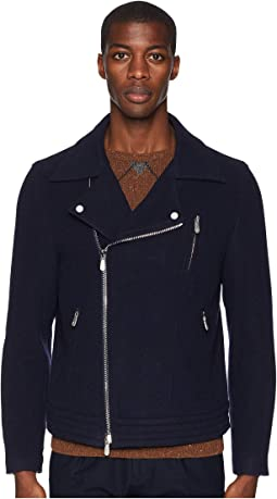 Wool/Cashmere Moto Jacket