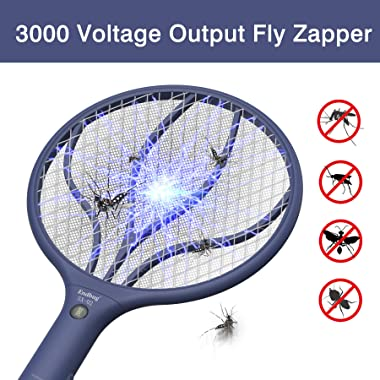 Endbug Rechargeable Fly Swatter Racket Handheld Bug Zapper with LED Light, USB Charging Electric Mosquito, Fly Insect Killer