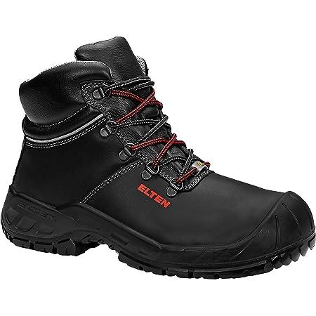 ELTEN Sicherheitsschuhe Renzo XXW Mid ESD S3, Herren, Leicht, Schwarz, Stahlkappe, Men's Renzo XXW Mid Safety Lace-Up Boots ESD S3 Size 4