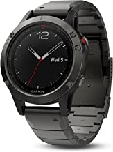 Garmin fēnix 5, Premium and Rugged Multisport GPS Smartwatch, Sapphire Glass, Slate Gray w/ Metal Band