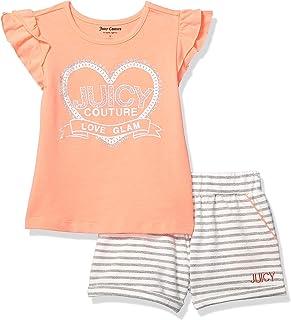 Juicy Couture - Conjunto de Pantalones Cortos para niña (2 Piezas)