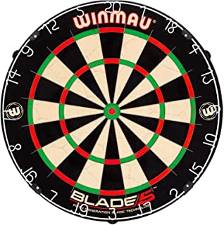 Winmau Blade 5 Bristle Dartboard with All-New Thinner Wiring for Higher Scoring and..