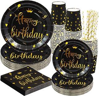 Fête potable gobelet Jetables gobelet Anniversaire Bbq 200ml coloré-design Happy Birthday