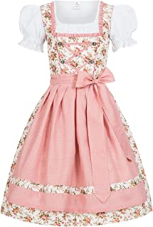 Dirndl Set Momo 3 piece: Dress Blouse and Apron for Oktoberfest and Carnival, Brand Gaudi-Leathers