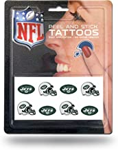 Rico Industries NFL New York Jets Face Tattoos, 8-Piece Set