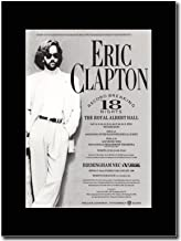 gasolinerainbows - Eric Clapton - 18 Nights at The Albert Hall 1990. - Matted Mounted Magazine Promotional Artwork on a Black Mount