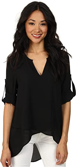 Asymmetrical Hem Wrap Top