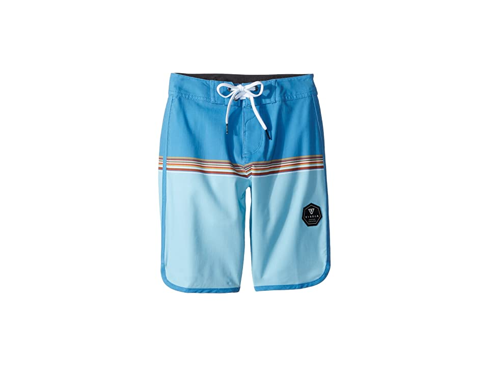 VISSLA Kids Dredges 4-Way Stretch Boardshorts 17 (Big Kids) (Blue Wash) Boy