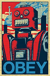 NMR 241101 Robot Obey Decorative Poster