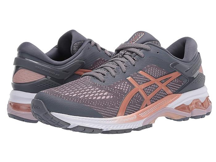 ASICS  GEL-Kayano 26 (Metropolis/Rose Gold) Womens Running Shoes