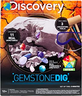 Discovery Kids Gemstone Dig Stem Science Kit by Horizon Group Usa, Excavate, Dig &..