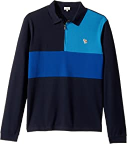 Paul Smith Junior - Color Blocked Zip Polo (Big Kids)