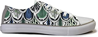 Rivir Latest & Stylish Printed Canvas Sneakers Shoes for Men & Women White