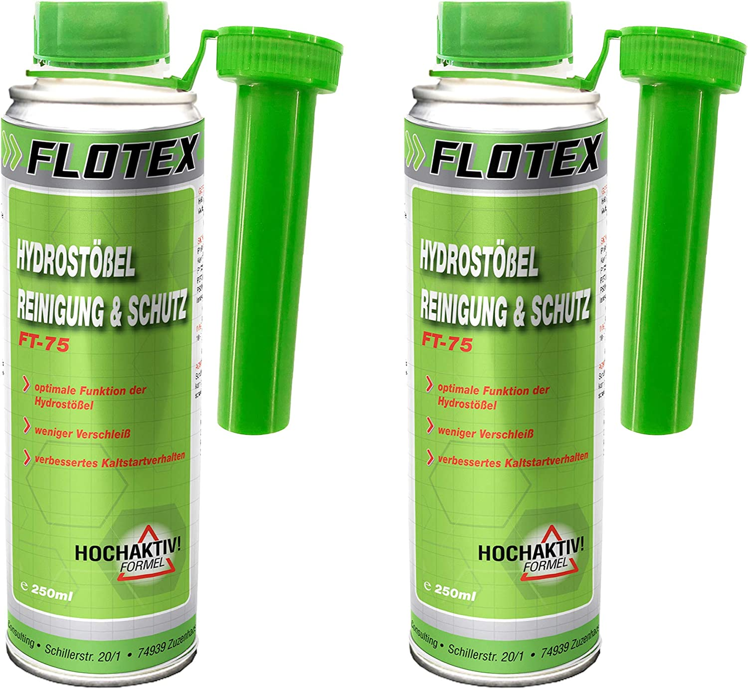 Flotex Hydro Muddler Cleaning Protection 2 X 250 Ml Additive Cleans Valve Pestle Auto