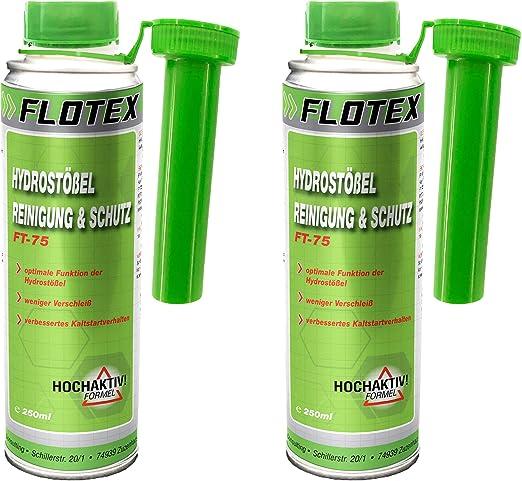 Flotex Hydrostößel Reinigung Schutz 2 X 250ml Additiv Reinigt Ventilstößel Auto