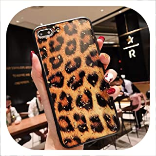 Phone Case for iPhone Luxury Glitter Bling Foil Leopard Print Hard PC for iPhone,T1,for iPhone Xs Max