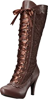 steampunk heeled boots