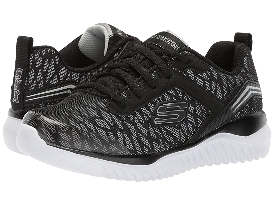 SKECHERS KIDS Turboshift (Little Kid/Big Kid) (Black/Silver 1) Boys Shoes