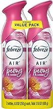 Febreze Air Odor-Eliminating Air Freshener, Peony & Cedar, 2 Ct, 8.8 Fl Oz Each (17.6 Fl oz Total)