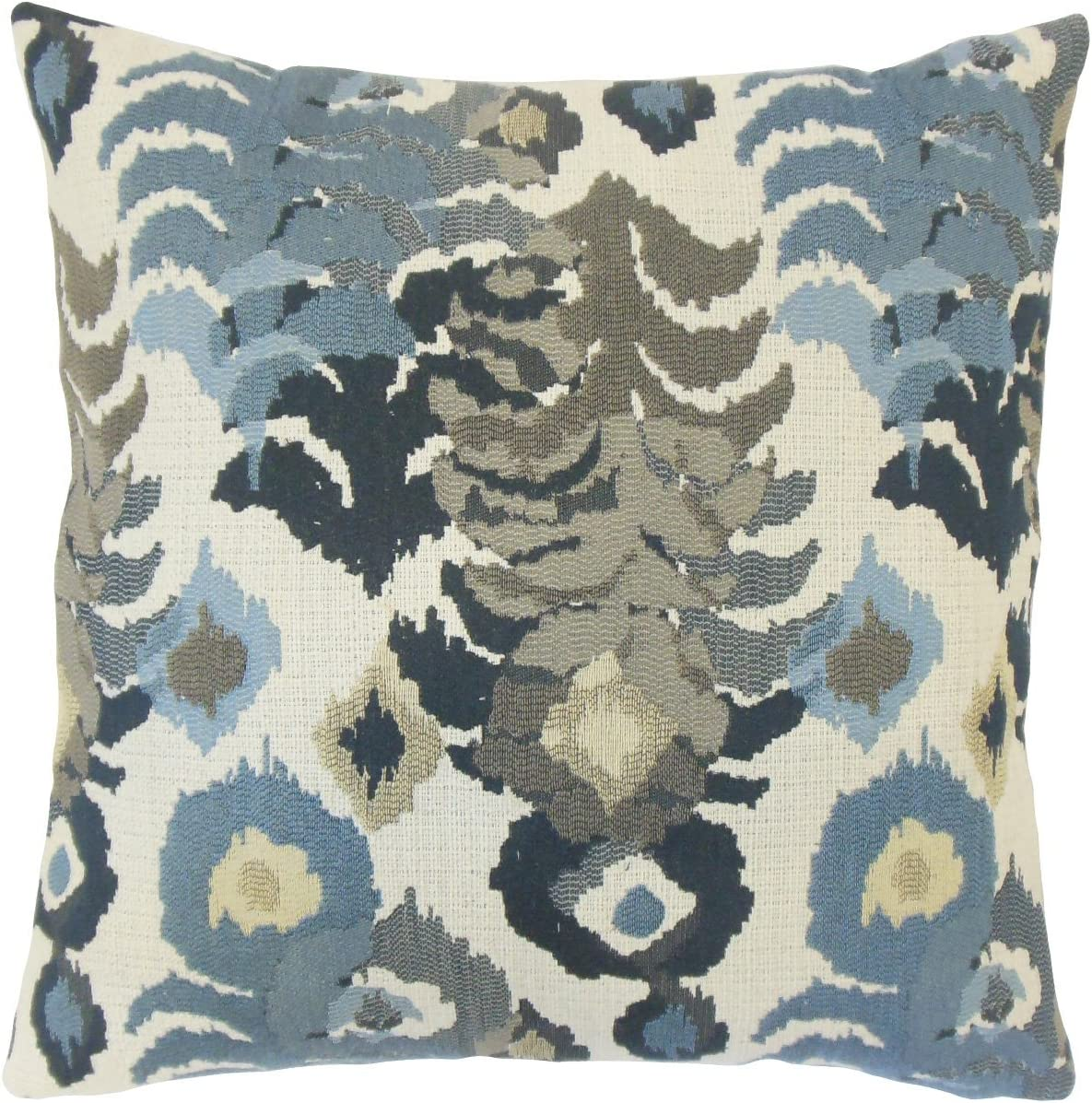 The Pillow Collection Henriette Ikat Throw Pillow Cover Home Kitchen Amazon Com