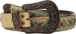 Copper Studs with Turquoise Lace Belt